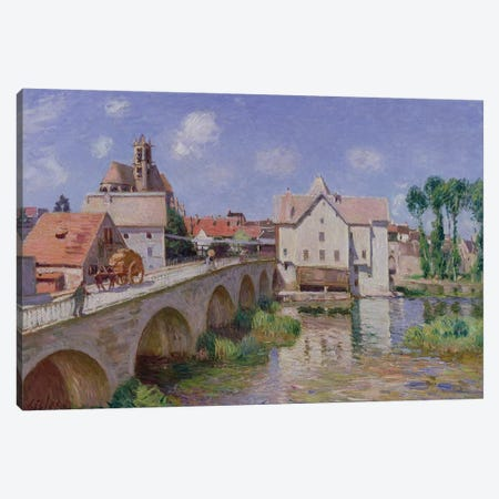 The Bridge at Moret, 1893  Canvas Print #BMN1451} by Alfred Sisley Canvas Print