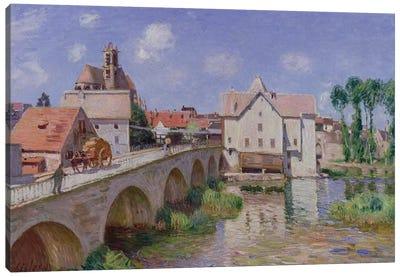 The Bridge at Moret, 1893  Canvas Art Print