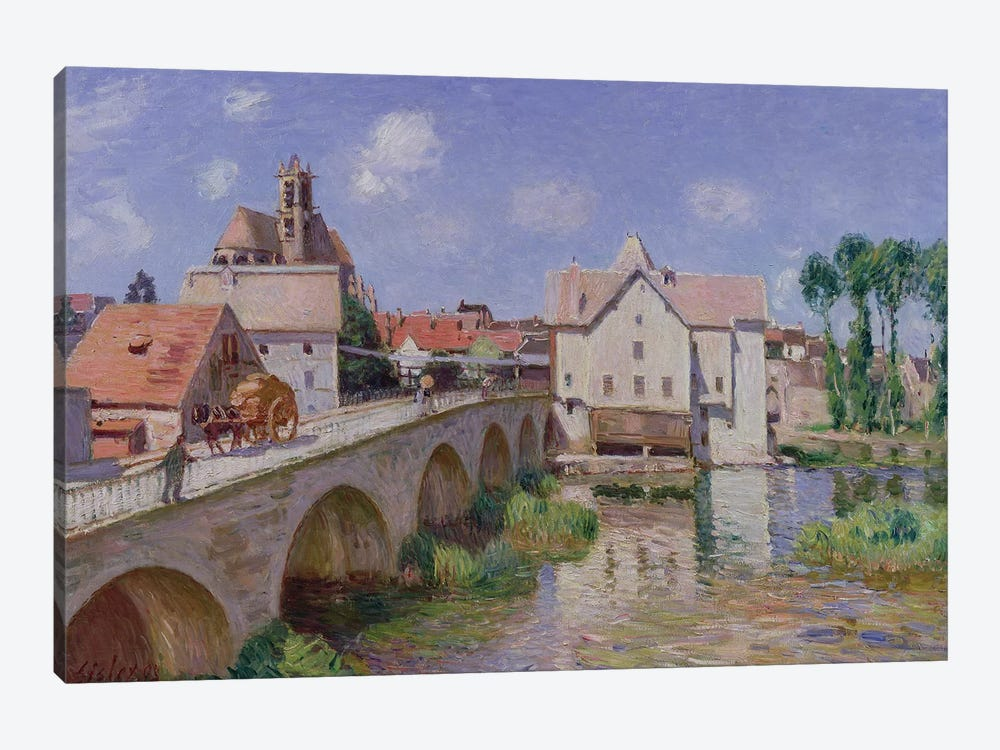 The Bridge at Moret, 1893  by Alfred Sisley 1-piece Canvas Artwork