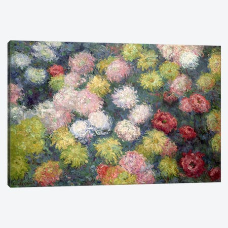 Chrysanthemums, 1897  Canvas Print #BMN1455} by Claude Monet Canvas Art