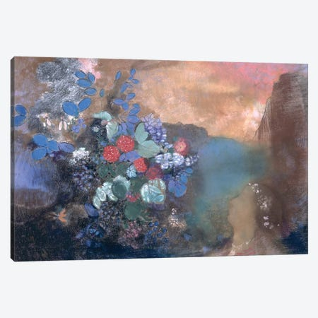 Ophelia among the Flowers, c.1905-8  Canvas Print #BMN1457} by Odilon Redon Canvas Artwork