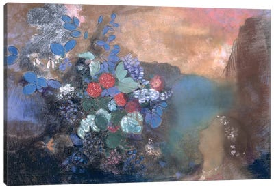 Ophelia among the Flowers, c.1905-8  Canvas Art Print