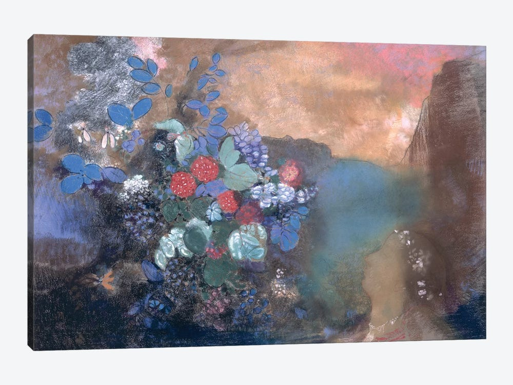 Ophelia among the Flowers, c.1905-8  by Odilon Redon 1-piece Canvas Art