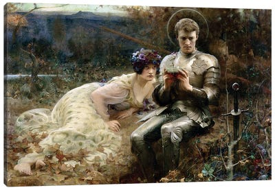 The Temptation of Sir Percival, 1894  Canvas Art Print