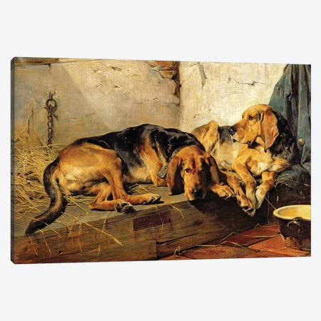 Lazy Moments, 1878  Canvas Print #BMN1462} by John Sargent Noble Canvas Art
