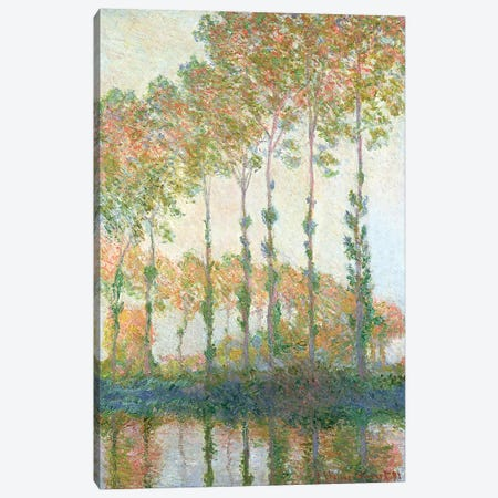 Poplars on the Banks of the Epte, Autumn, 1891  Canvas Print #BMN1467} by Claude Monet Canvas Print