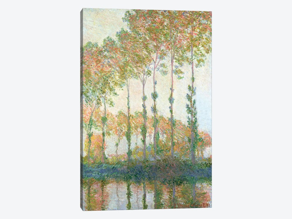 Poplars on the Banks of the Epte, Autumn, 1891  by Claude Monet 1-piece Canvas Art Print