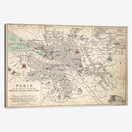 Paris at the outbreak of the French Revolution in 1789  Canvas Print #BMN1476} by English School Canvas Artwork