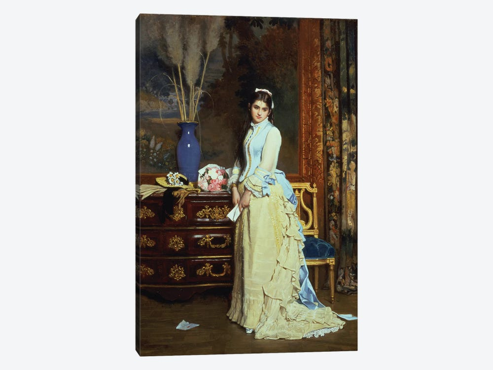 Indecision  by Charles Baugniet 1-piece Canvas Artwork
