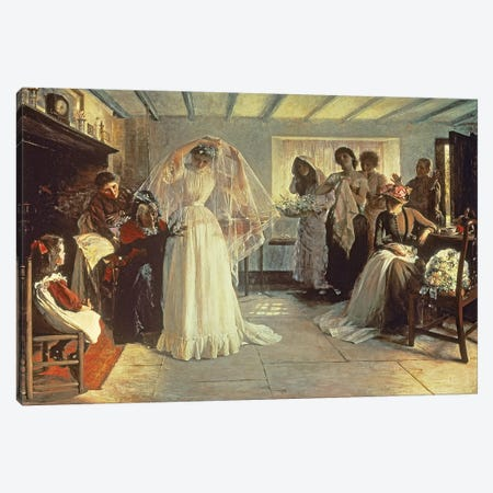 The Wedding Morning, 1892  Canvas Print #BMN1479} by John Henry Frederick Bacon Canvas Print