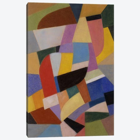 Composition; Komposition, c.1935-1937 (pastel on paper) Canvas Print #BMN147} by Otto Freundlich Canvas Artwork
