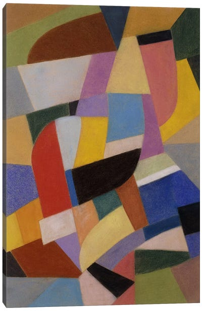 Composition; Komposition, c.1935-1937 (pastel on paper) Canvas Art Print