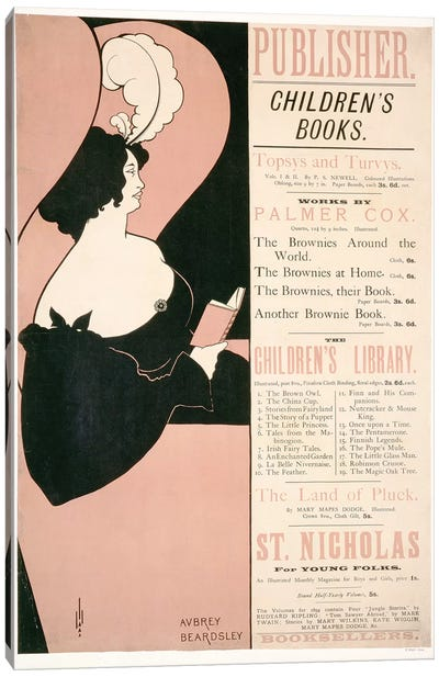 Advertisement for Children's Books, 1894  Canvas Art Print
