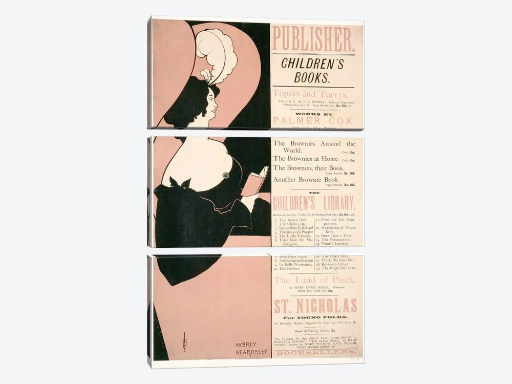 Advertisement for Children's Books, 1894  by Aubrey Beardsley 3-piece Canvas Art