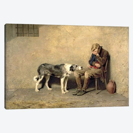 Fidelity, 1869  Canvas Print #BMN1481} by Briton Riviere Canvas Wall Art