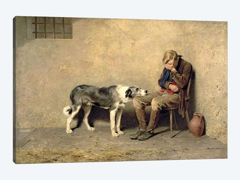 Fidelity, 1869  by Briton Riviere 1-piece Canvas Art Print