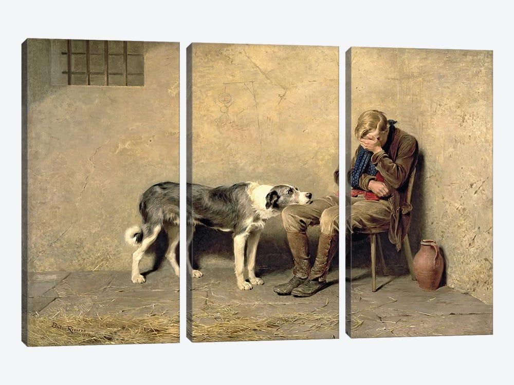 Fidelity, 1869  by Briton Riviere 3-piece Art Print