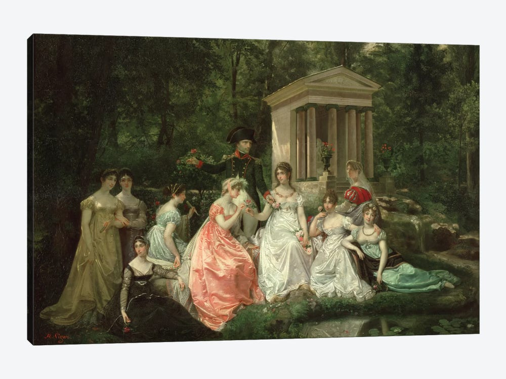 The Rose of Malmaison, c.1867 by Jean Louis Victor Viger du Vigneau 1-piece Canvas Wall Art