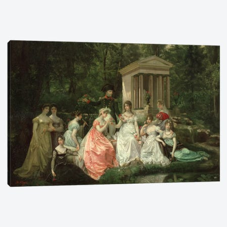 The Rose of Malmaison, c.1867   3-Piece Canvas #BMN1484} by Jean Louis Victor Viger du Vigneau Art Print