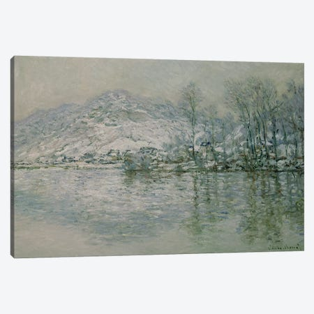 The Seine at Port Villez in Winter, 1885  Canvas Print #BMN1485} by Claude Monet Art Print