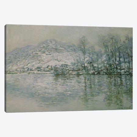 The Seine at Port Villez in Winter, 1885  Canvas Print #BMN1485} by Claude Monet Art Print