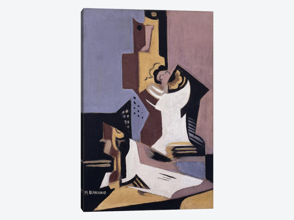 Still Life; Nature Morte, 1918 (oil on canvas) by Maria Blanchard 1-piece Canvas Wall Art