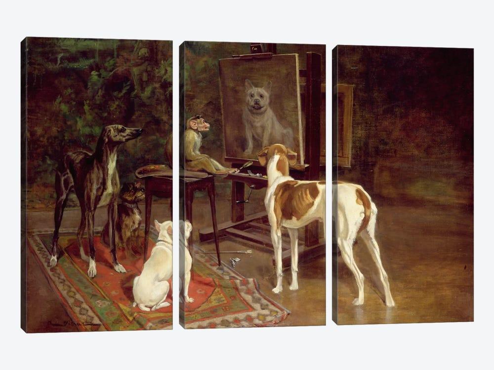 The Critics  by A. Vimar 3-piece Canvas Print