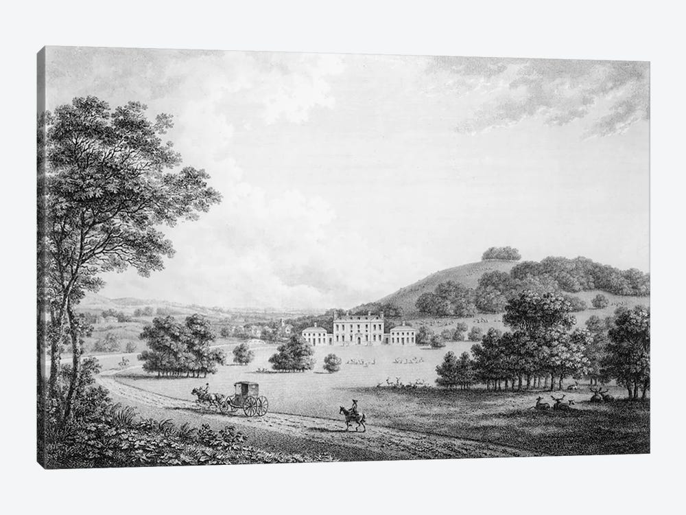 Godmersham Park, Kent, the Seat of Thomas Knight Esq., pub. in 1785 by William Watts 1-piece Canvas Art Print