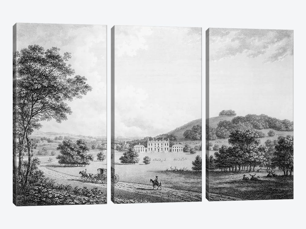 Godmersham Park, Kent, the Seat of Thomas Knight Esq., pub. in 1785 by William Watts 3-piece Canvas Print