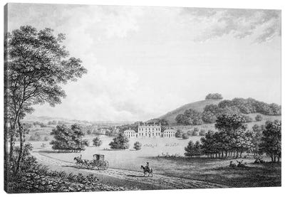 Godmersham Park, Kent, the Seat of Thomas Knight Esq., pub. in 1785  Canvas Art Print