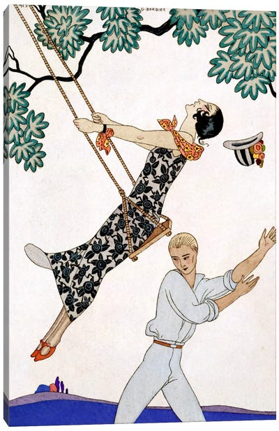 The Swing, 1920s Canvas Art Print