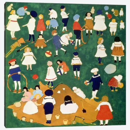 Children, 1908  Canvas Print #BMN1500} by Kazimir Severinovich Malevich Art Print