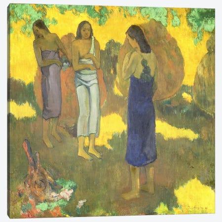 Three Tahitian Women against a Yellow Background, 1899  Canvas Print #BMN1501} by Paul Gauguin Canvas Print
