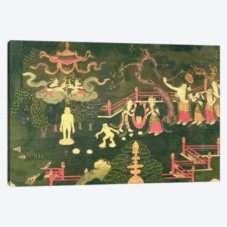 The Life of Buddha Shakyamuni, detail of his Childhood  Canvas Print #BMN1503} by Tibetan School Art Print