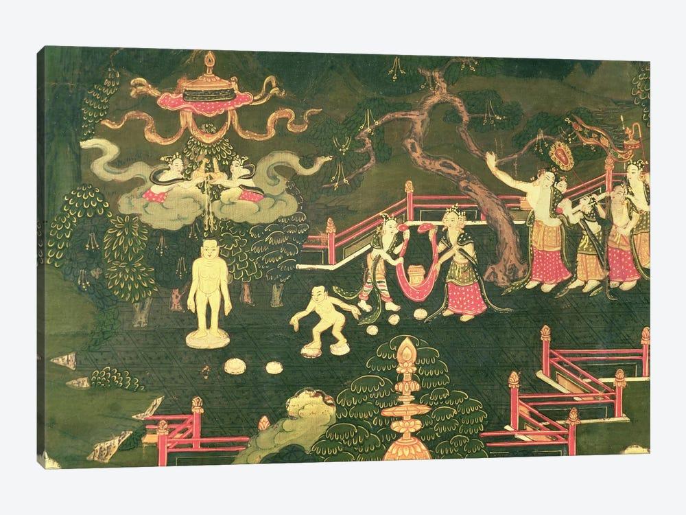 The Life of Buddha Shakyamuni, detail of his Childhood  by Tibetan School 1-piece Canvas Art