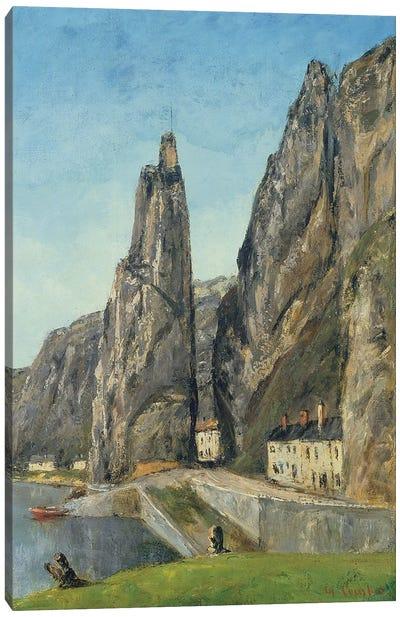 The Rock at Bayard, Dinant, Belgium, c.1856  Canvas Art Print
