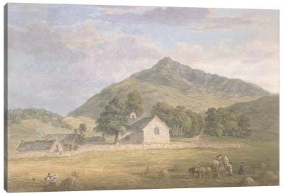 PD.2-1967 Haymaking at Dolwyddelan below Moel Siabod, North Wales, c.1776-86  Canvas Art Print