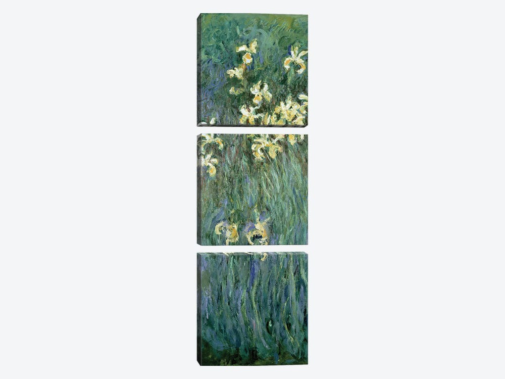 The Yellow Irises  by Claude Monet 3-piece Canvas Artwork