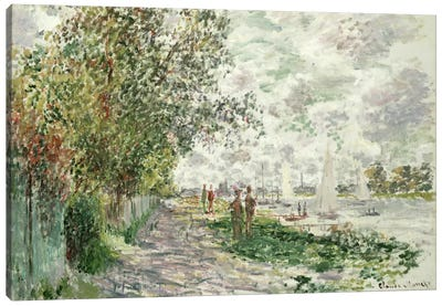 The Riverbank at Gennevilliers, c.1875  Canvas Print #BMN1509