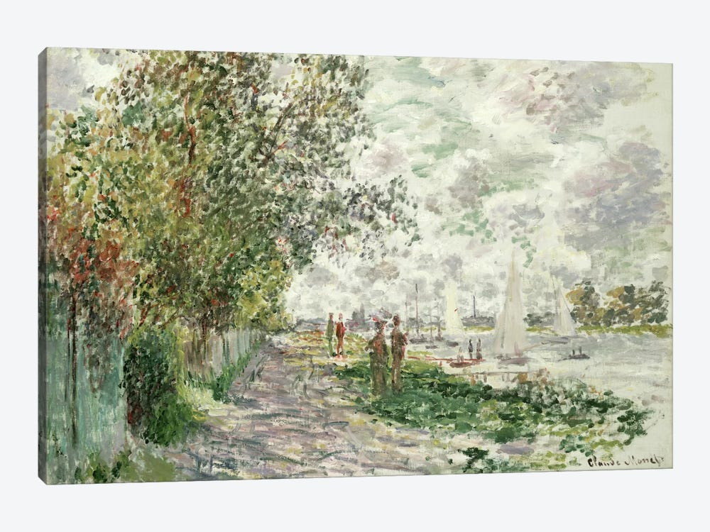 The Riverbank at Gennevilliers, c.1875  by Claude Monet 1-piece Canvas Wall Art