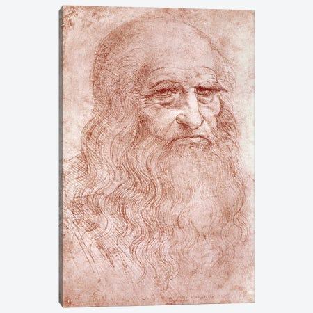 Digital Rendition, Self Portrait, c.1515-16 (Musei Reali Torino) Canvas Print #BMN1510} by Leonardo da Vinci Canvas Art