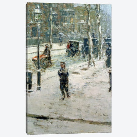 Snow Storm, Fifth Avenue, 1907  Canvas Print #BMN1511} by Childe Hassam Canvas Art