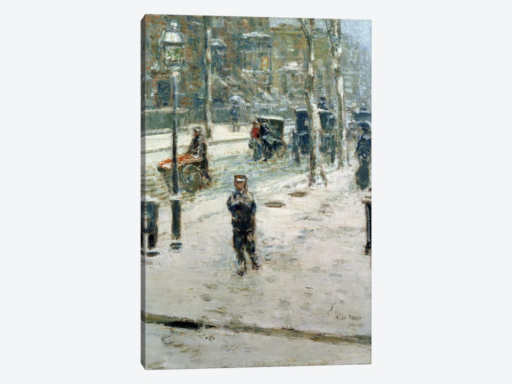 Snow Storm, Fifth Avenue, 1907  by Childe Hassam 1-piece Art Print