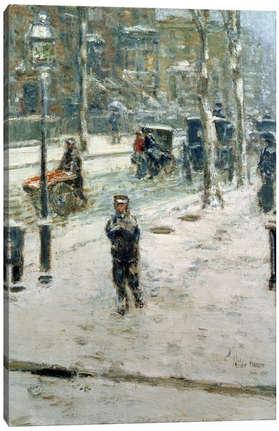 Snow Storm, Fifth Avenue, 1907  Canvas Art Print