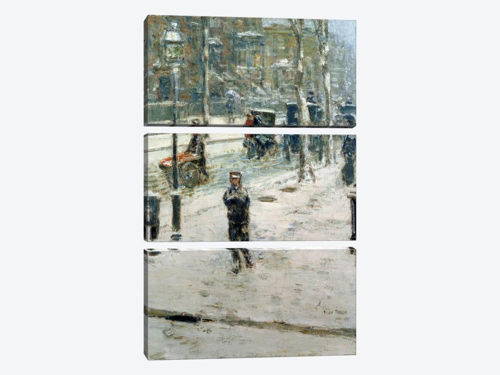 Snow Storm, Fifth Avenue, 1907  by Childe Hassam 3-piece Canvas Art Print