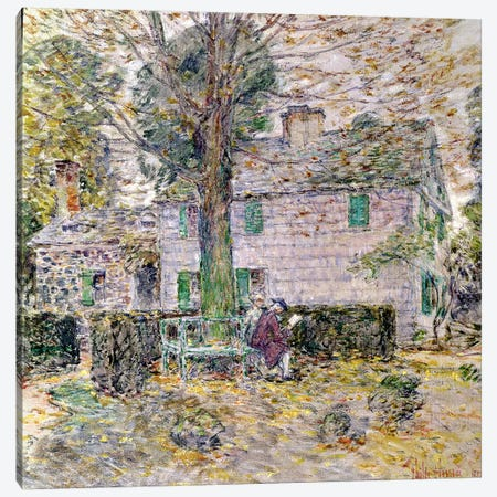 Indian Summer in Colonial Days, 1899  Canvas Print #BMN1512} by Childe Hassam Canvas Wall Art