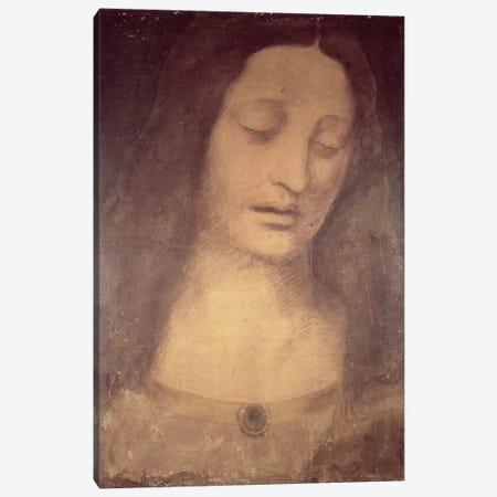 Head Of Christ (Musee des Beaux-Arts de Strasbourg) Canvas Print #BMN1515} by Leonardo da Vinci Canvas Print