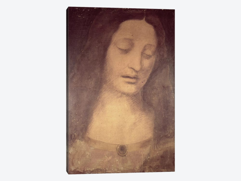 Head Of Christ (Musee des Beaux-Arts de Strasbourg) by Leonardo da Vinci 1-piece Canvas Art Print