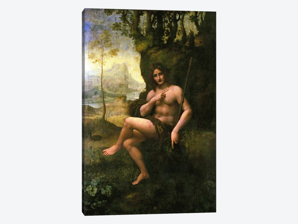Bacchus, c.1695  by Leonardo da Vinci 1-piece Canvas Wall Art