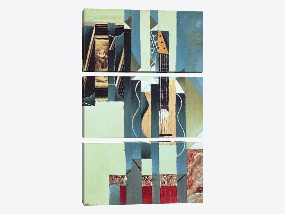 Untitled  by Juan Gris 3-piece Canvas Print